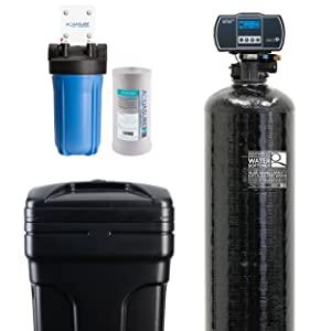 Aquasure Water Softener Aquatrol Digital Head and 10 Sediment Dual Purpose Whole House Water Filter 32,000 Grains