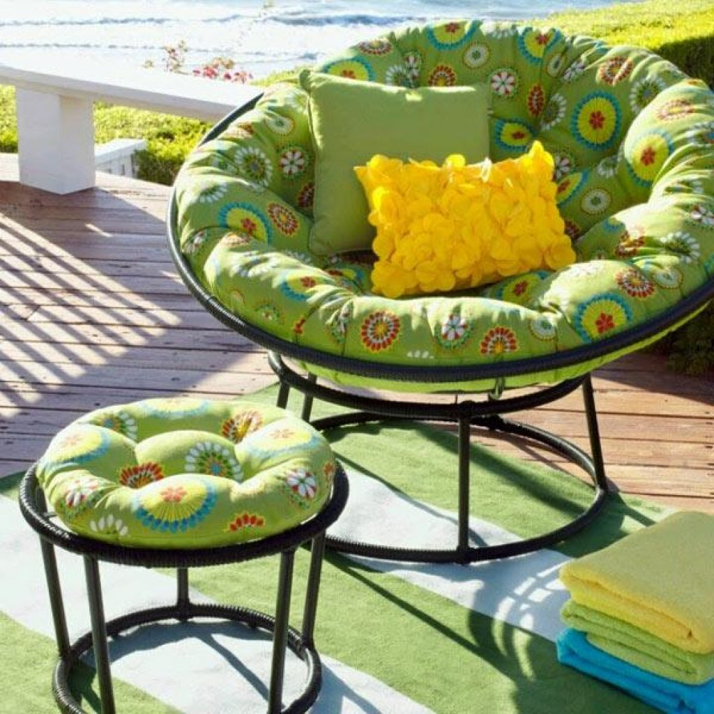 Green Papasan cushion idea