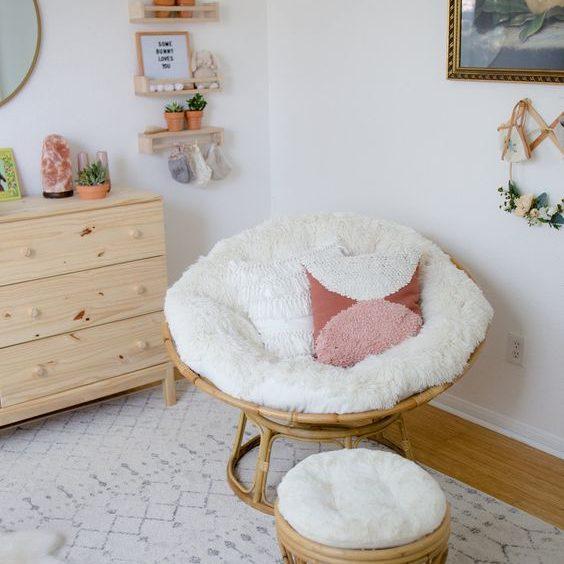 living room Papasan Cushion idea