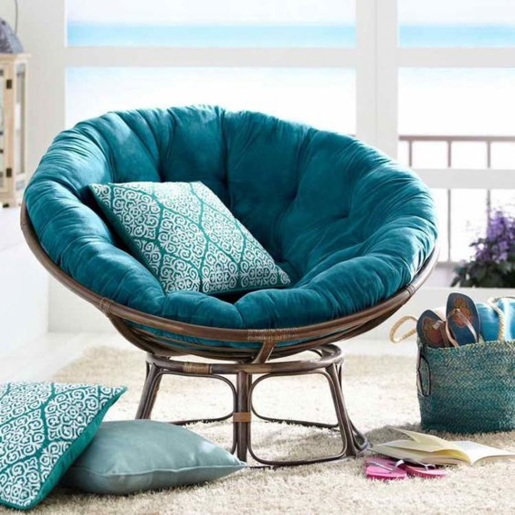 turquoise blue Papasan Cushion