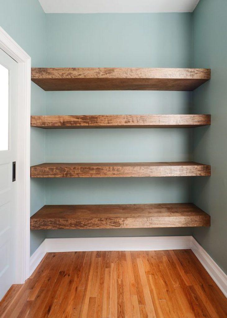 Closet Floating Shelves