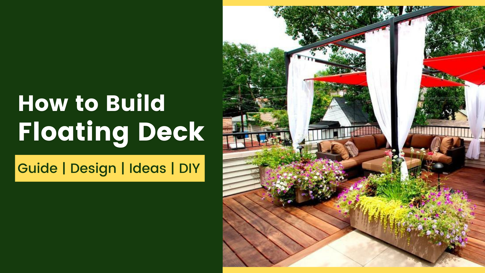 How to Build Floating Deck