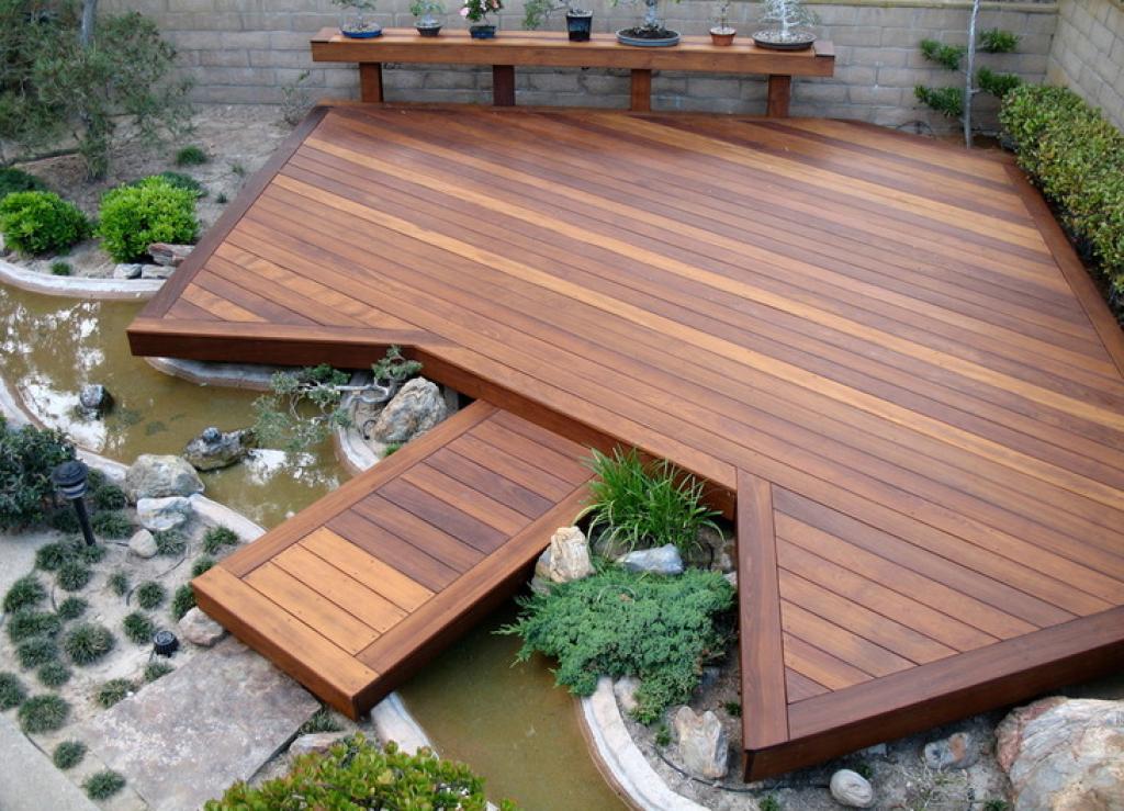 floating deck backyard image
